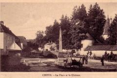 Choye La Place et le Ch-teau.JPG